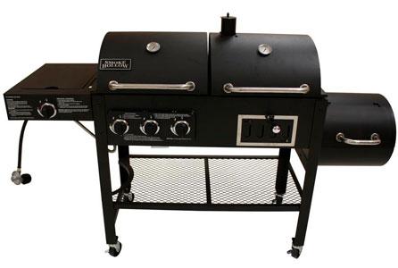 propane grill smoker combo