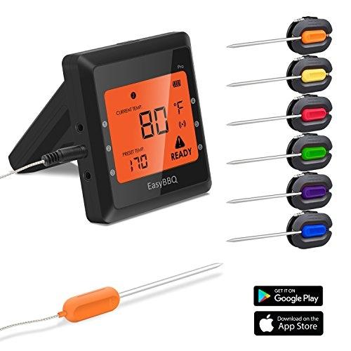 Silipower 1 bbq1 Bbq, 1 x Meat Thermometor + 6 x Probes